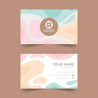 Шаблон абстрактный визитной карточки с пятнами пастельных тонов