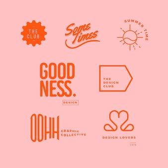 Минимальная коллекция логотипов в двух цветах