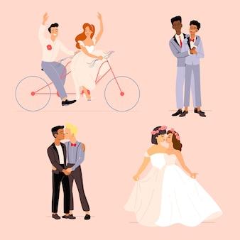 Пакет плоских свадебных пар