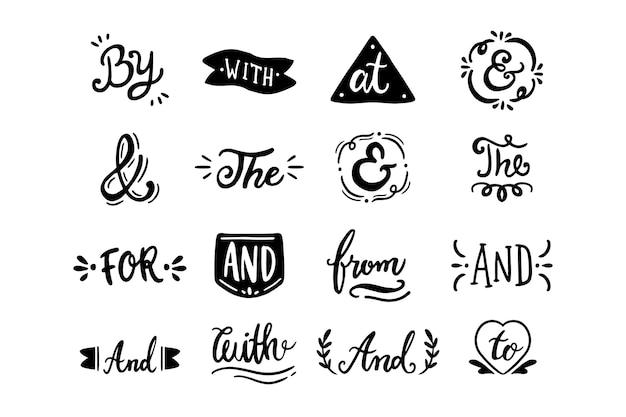 Различные лозунги и набор амперсандов