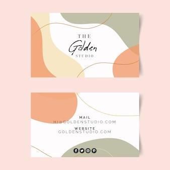Шаблон визитки с пятнами пастельных тонов