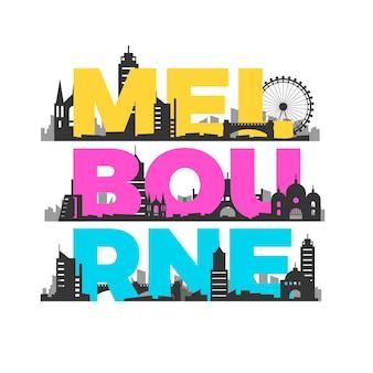 Город мельбурн надпись