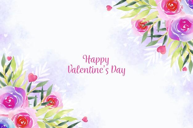 水彩バレンタインデーの壁紙