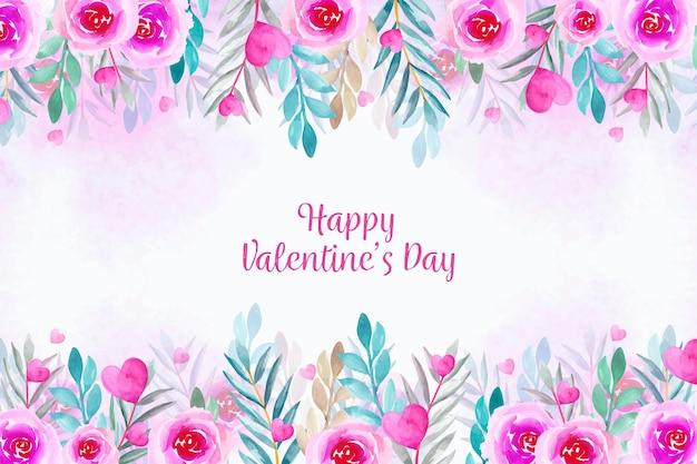 水彩壁紙バレンタインデー