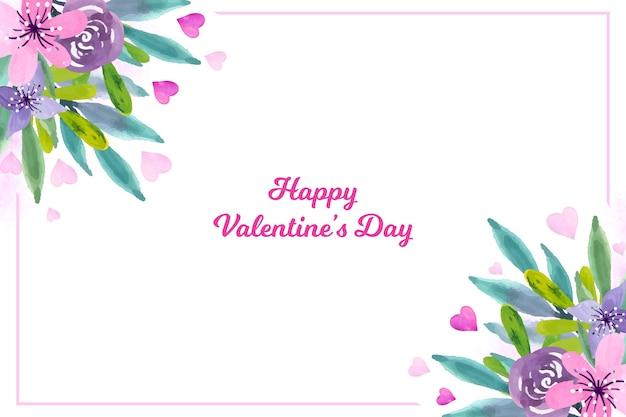 花とバレンタインデーの壁紙