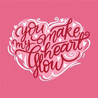 Ты заставляешь мое сердце светиться надписью