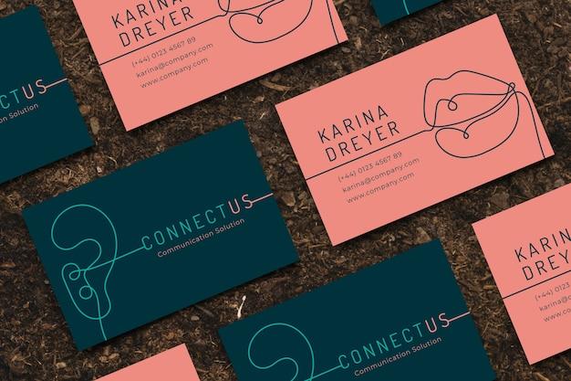 Смешной дизайнерский шаблон визитной карточки