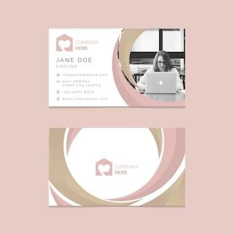 Современный шаблон визитки с фото