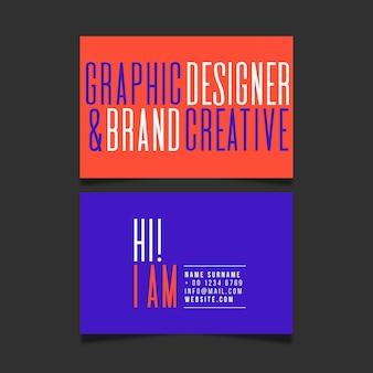 Фирменный шаблон креативной визитки
