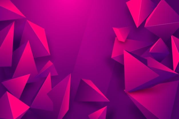 鮮やかな色のグラデーションの三角形の背景