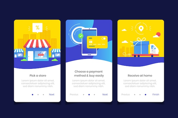 Купить онлайн экраны приложения