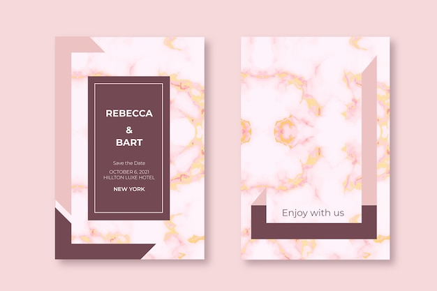 Свадебная мраморная открытка