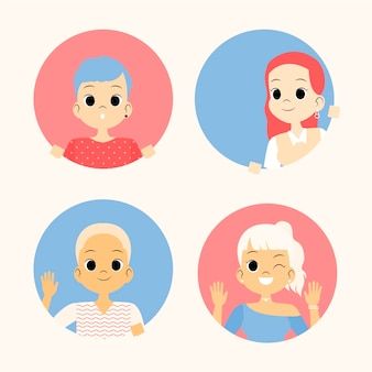 Подглядывающая аватарка женская коллекция людей