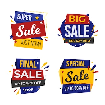 Мега распродажа баннер и значки