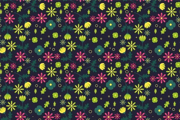 小さな花の背景の頭が変なパターン