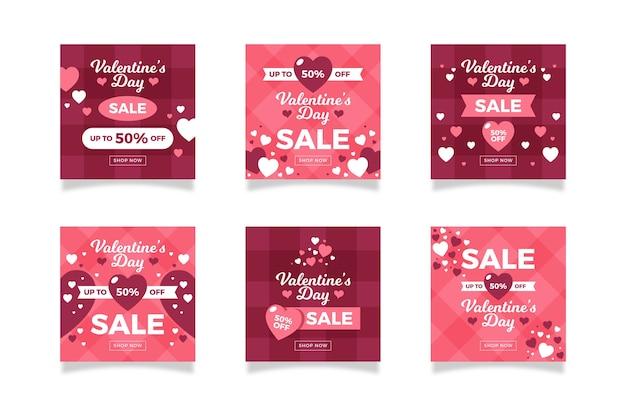 Коллекция постов продажи дня святого валентина