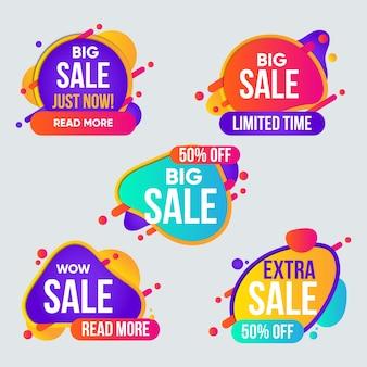 Коллекция красочных баннеров продаж