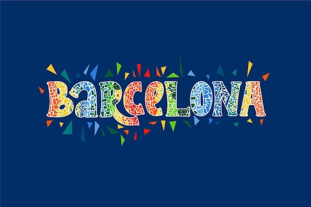 Барселона город надписи
