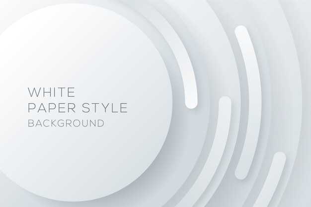 白い円形の紙スタイルの背景