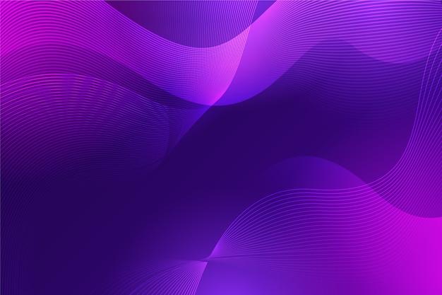 Волнистая роскошная абстракция в градиентных фиолетовых тонах