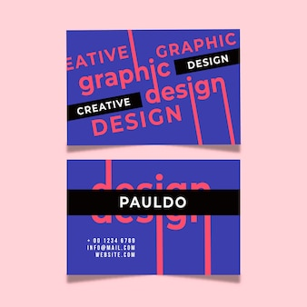 Креативный дизайн шаблона визитной карточки