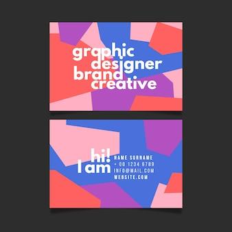 グラフィックデザイナーブランドの創造的な名刺テンプレート