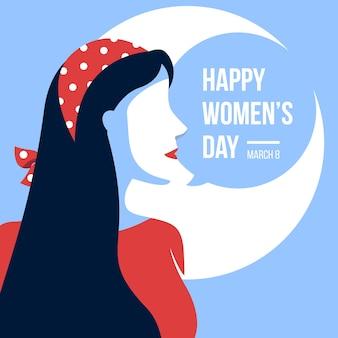 Женский день концепция в плоском дизайне