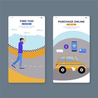 タクシーモバイルアプリの画面を見つける
