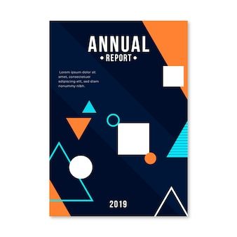 カラフルな抽象的な年次報告書テンプレート