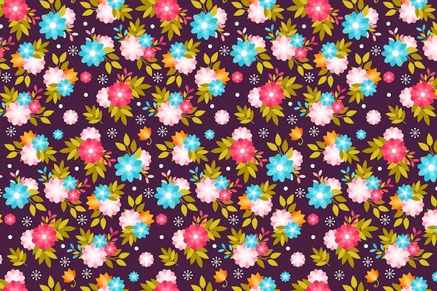 春のかわいい花の頭が変な印刷の背景