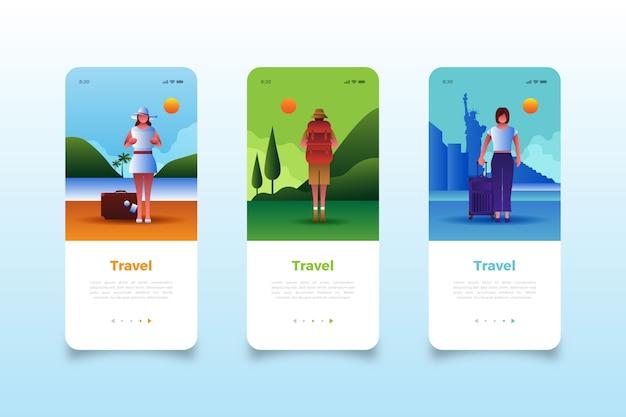 Посетите всемирные экраны мобильных приложений