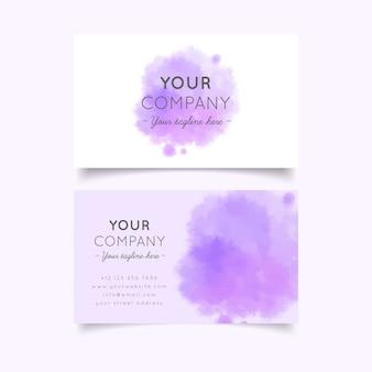 Шаблон визитки вашей компании в фиолетовых пастельных тонах