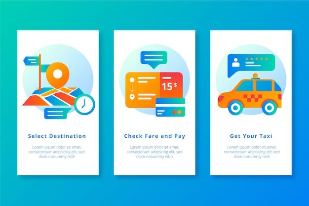 タクシーのモバイルアプリ画面を取得する