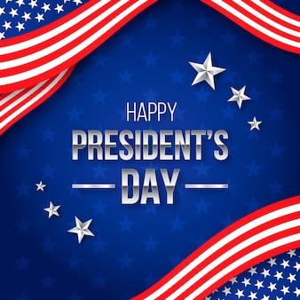 Плоский дизайн президентов день концепция