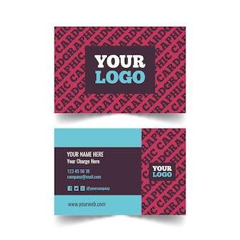 Шаблон визитной карточки креативного графического дизайнера