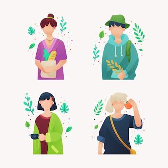 グリーンライフスタイルの人々