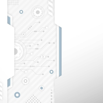 Белая технология фон с копией пространства