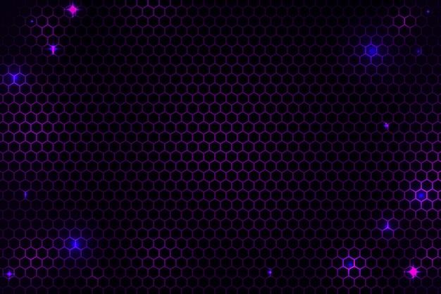 抽象的な六角形のサイバーネットの背景