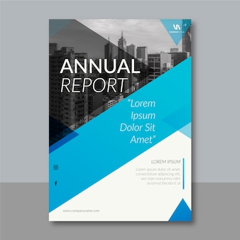 抽象的なスタイルの年次報告書テンプレート