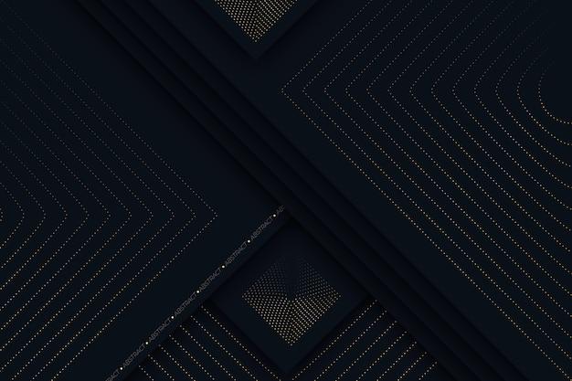 黄金の詳細な暗い紙層の背景
