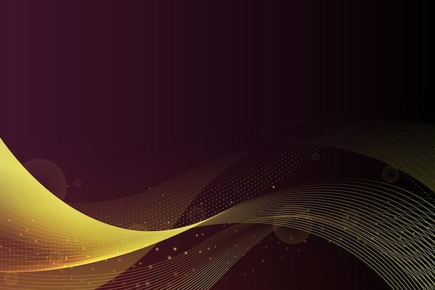 光沢のある黄金の波背景