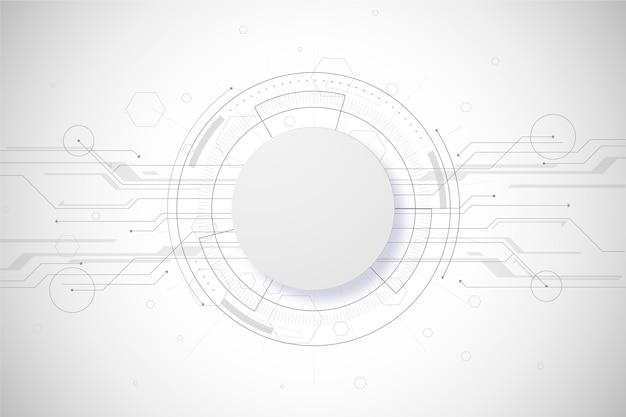 白い技術背景コンセプト