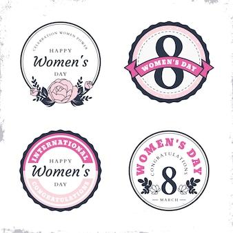 女性の日のラベルコレクション