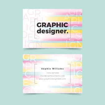 面白いグラフィックデザイナーの名刺テンプレート
