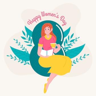 手描きの女性の日