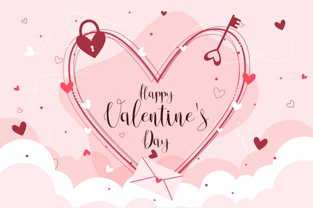 カラフルなバレンタインデーの背景