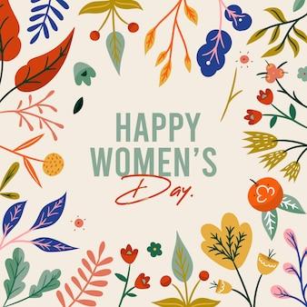 Счастливый женский день сообщение дизайн