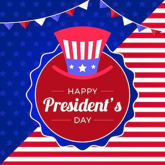 フラットデザイン大統領の日の概念