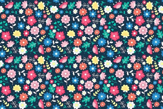 素敵な頭が変な花柄の背景