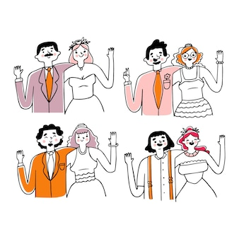 バレンタインデーのカップルコレクション